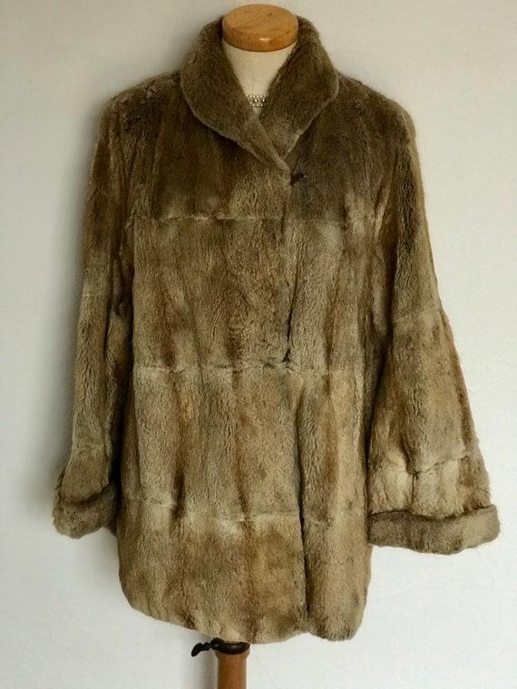 Vintage 1940s Duster Jacket Statement Mink Luxurio