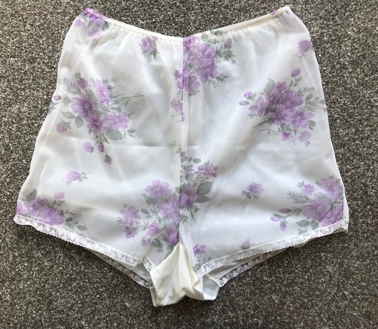 1c3e3e17f5b Vintage 1950s Cami Knickers Frilly Panties French Lace Pinup ...