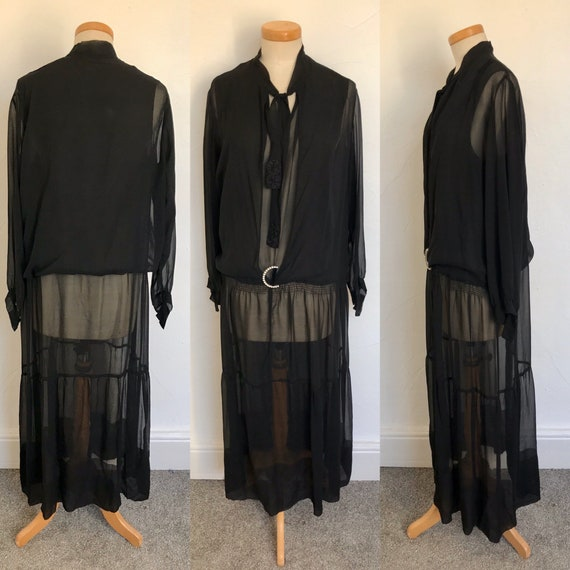 Pristine Vintage 1920s Flapper Dress 20s Art Deco
