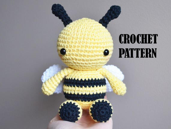 Crochet Amigurumi Pattern Fern The Bee Stuffed Toy Plush Stuffed