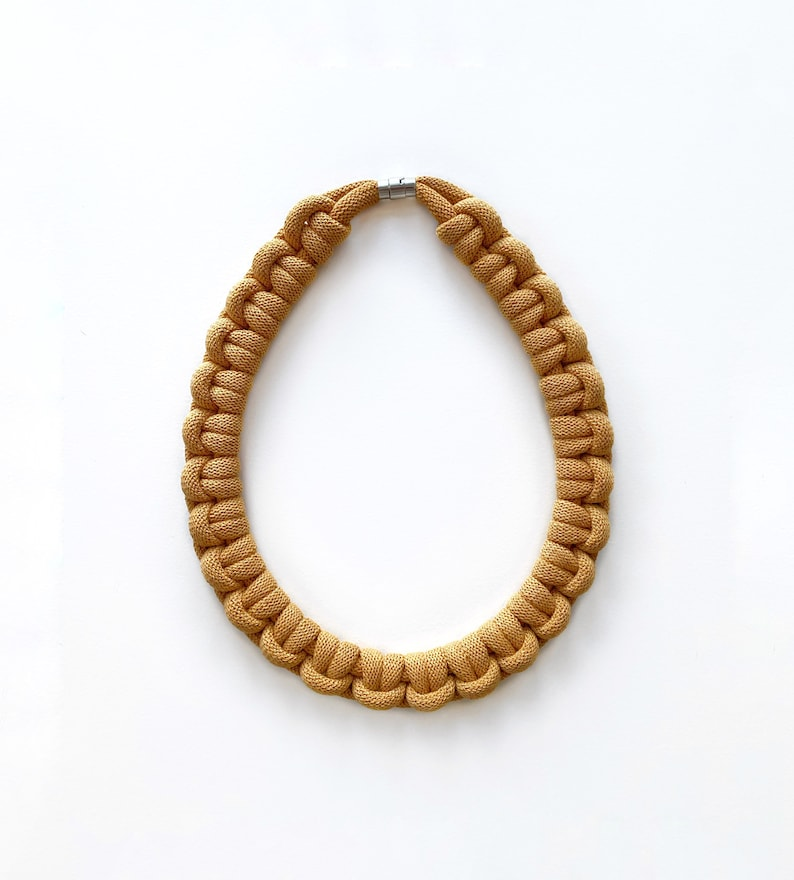 Rope necklace made from lightweight soft cotton cord image 0