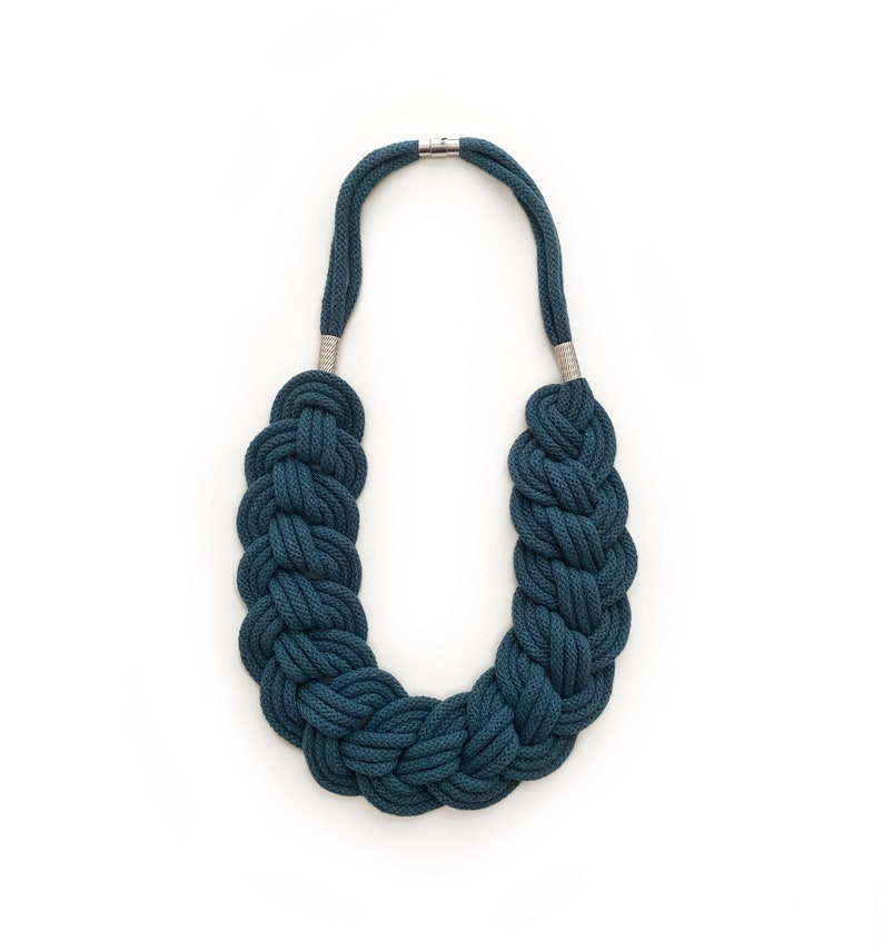 Lightweight cotton rope necklace made from soft cotton cord image 0