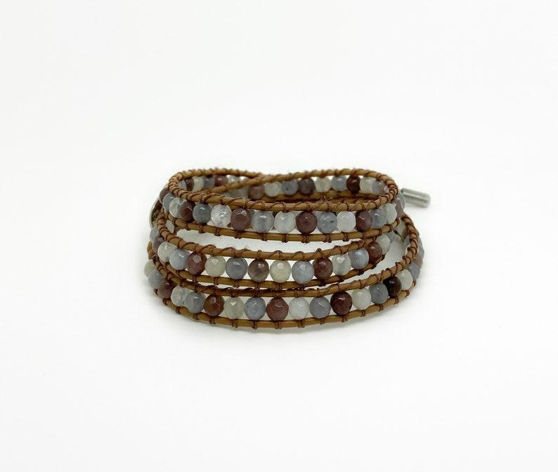 Beaded Bracelet Wrap bracelet Boho bracelet One of a kind image 0