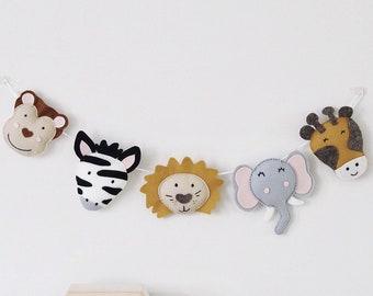 Safari Nursery, Safari Animal Garland, Safari Nursery Decor, Jungle Nursery Decoration, Zoo Animal Bunting, Safari Wall Art, Jungle Baby