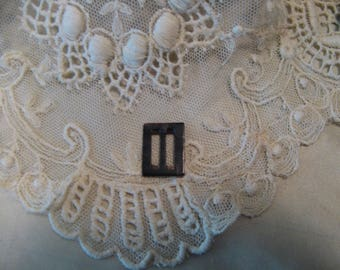 Small Mother of Pearl BUCKLE ~ Doll Belt Shoe Hat Craft