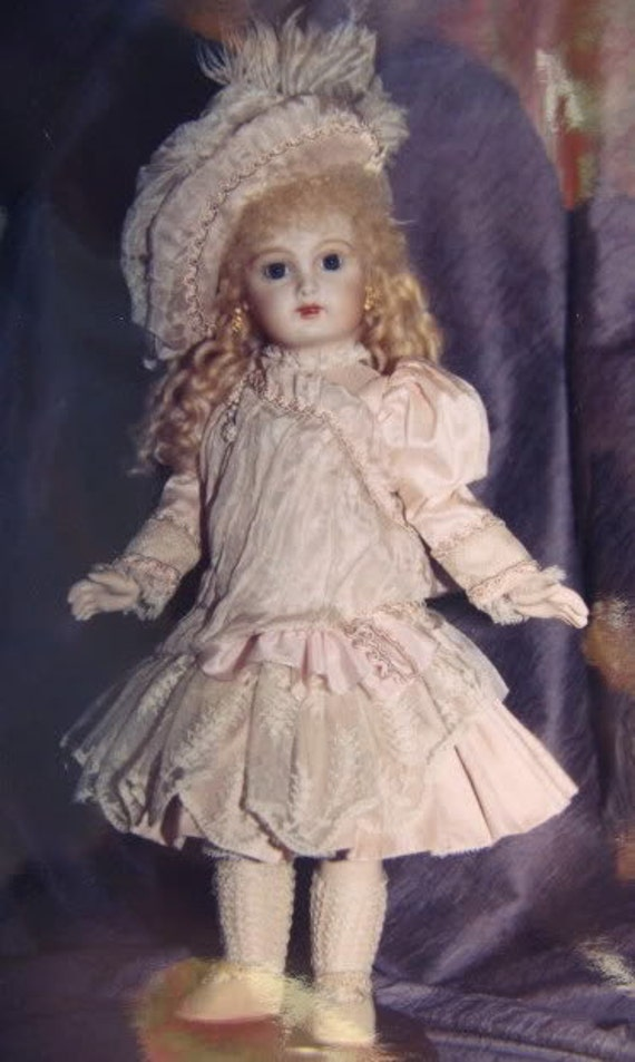 "24/""  FRENCH DOLL DRESS PATTERN VICTORIAN STYLE ~ AURELIA"