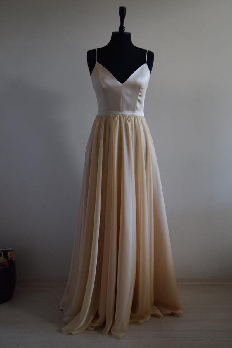 2a0e2690248 Gorgeous Silk Georgette Chiffon With Top Satin Bridesmaid Maxi