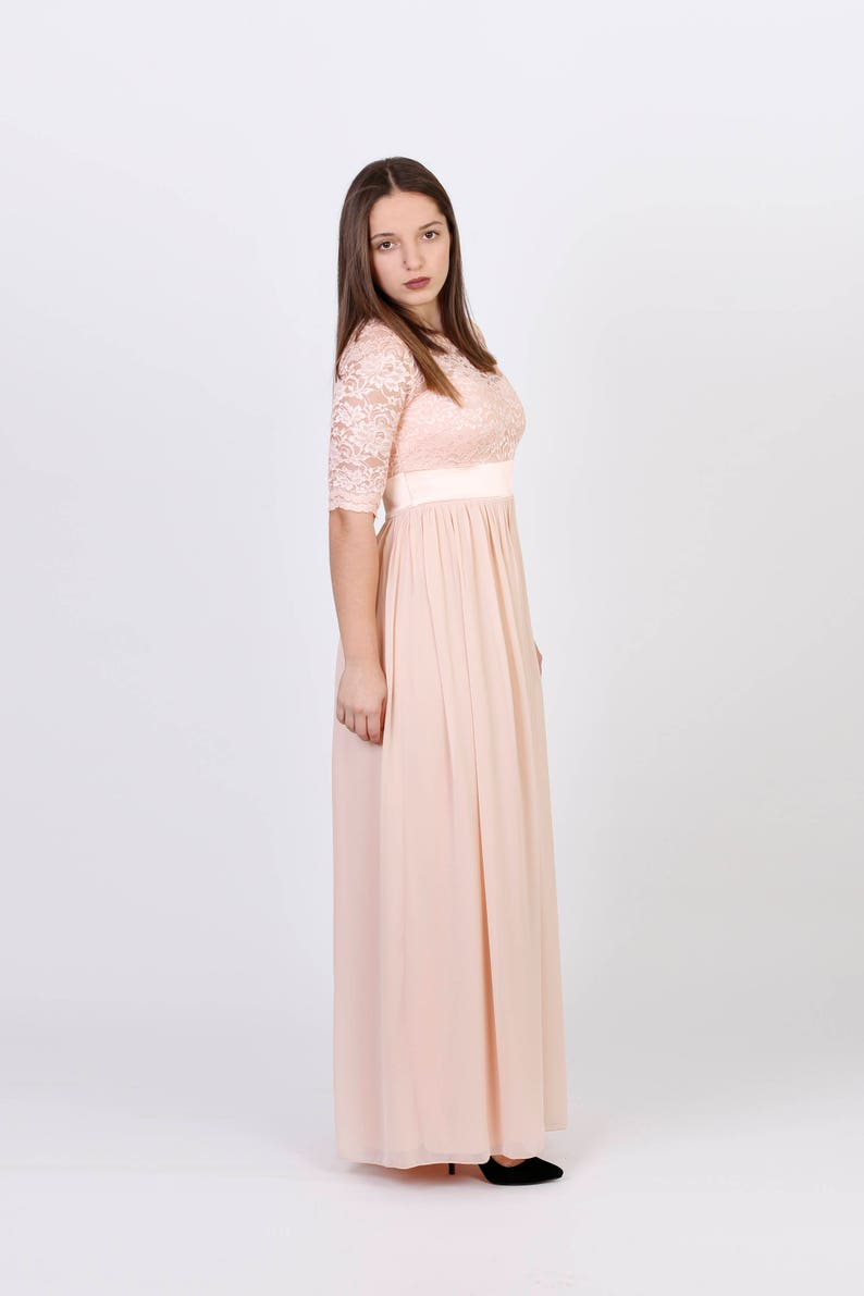 3da5e5b4170 Handmade Charming Chiffon With Top Lace Bridesmaid RTW Dress