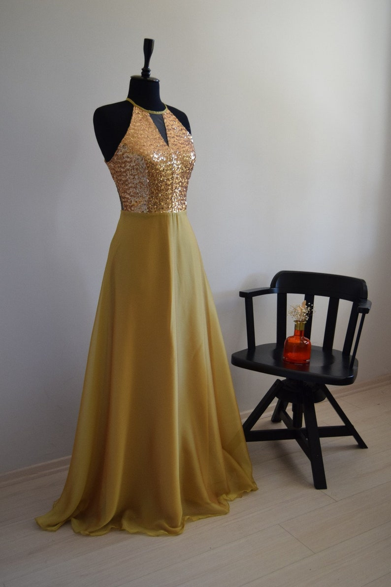 95809824601 Gorgeous Silk Georgette Chiffon With Top Sequin Gold