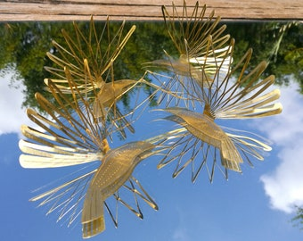 Mirror Decor Hummingbird Brass Bird Bathroom Decor The MIRROR IMAGE DOUBLES  The Wing To Make A