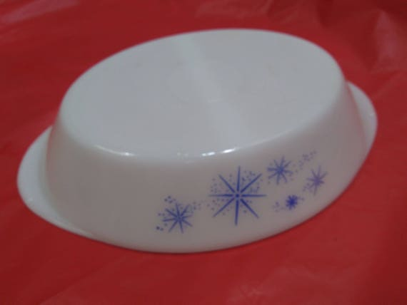 Glasbake divided oval casserole dish