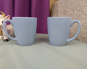 Corelle Coordinates Blue Stoneware Coffee Mugs Set Of 2 Ceramic Morning Blue Powder Blue Snowflake Blue Baby Blue Retro Replacement