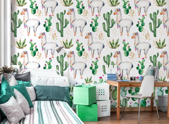 Behang Kinderkamer Vissen : Behang voor de kamer van de baby kids behang muurschildering etsy