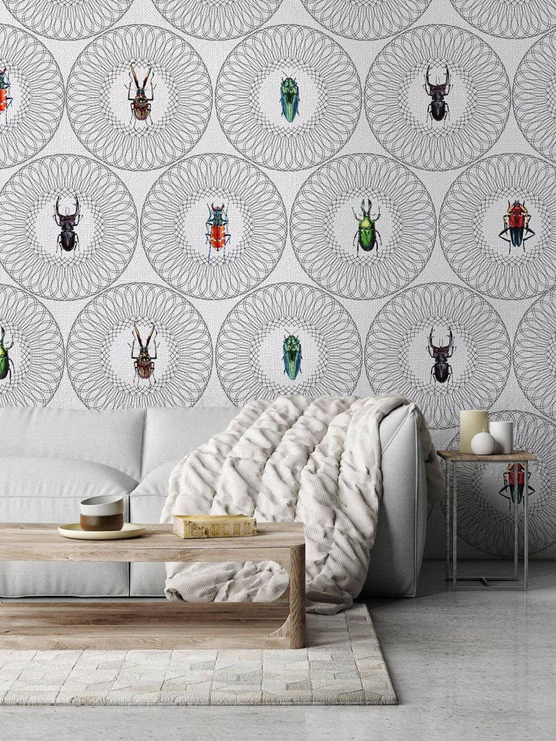 Balthazar Textured Vinyl Wallpaper on non-woven base Washable Mural Pattern Insect Removable Safety/&Eco