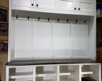 Mudroom Lockers Bench Storage Furniture Cubbies Hall Tree 72  Wide Coat Rack & Mudroom storage | Etsy