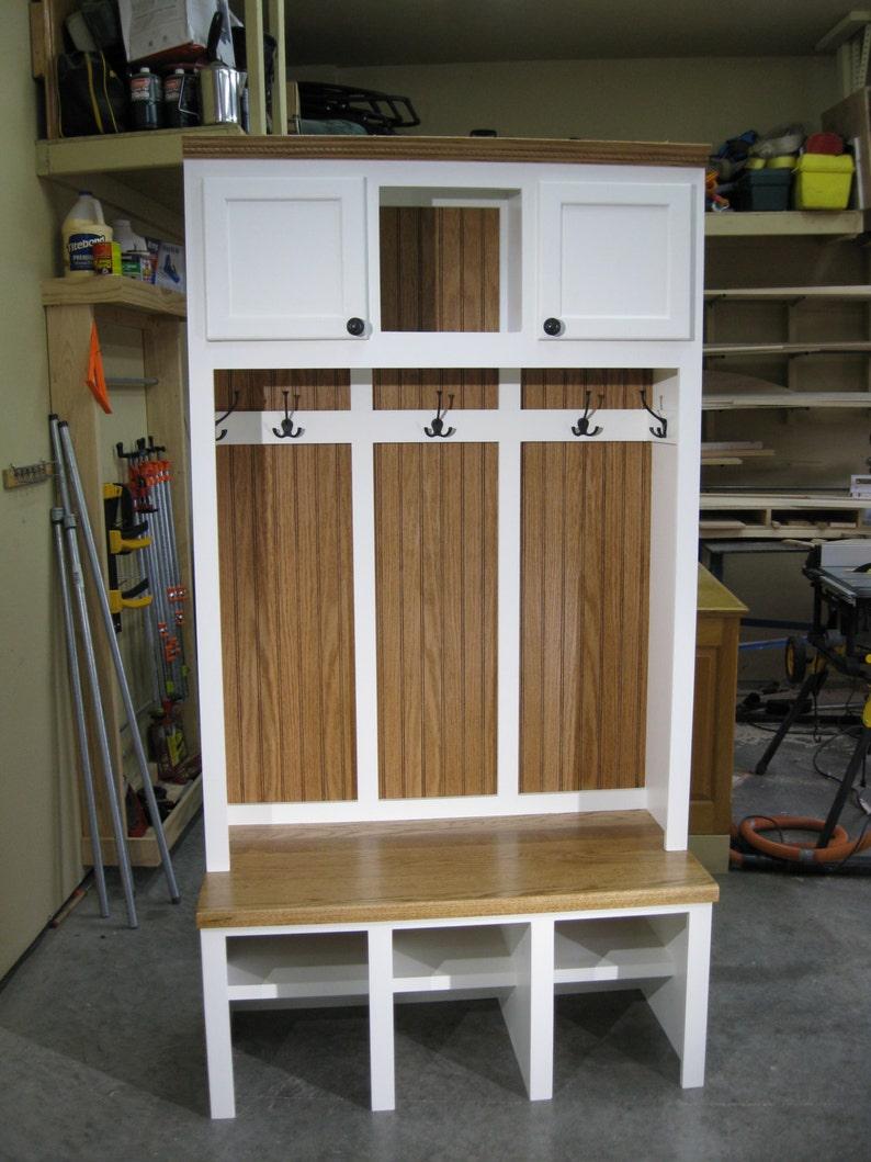 44 Wide Entryway Furniture Mudroom Cabinet Hall Tree Etsy