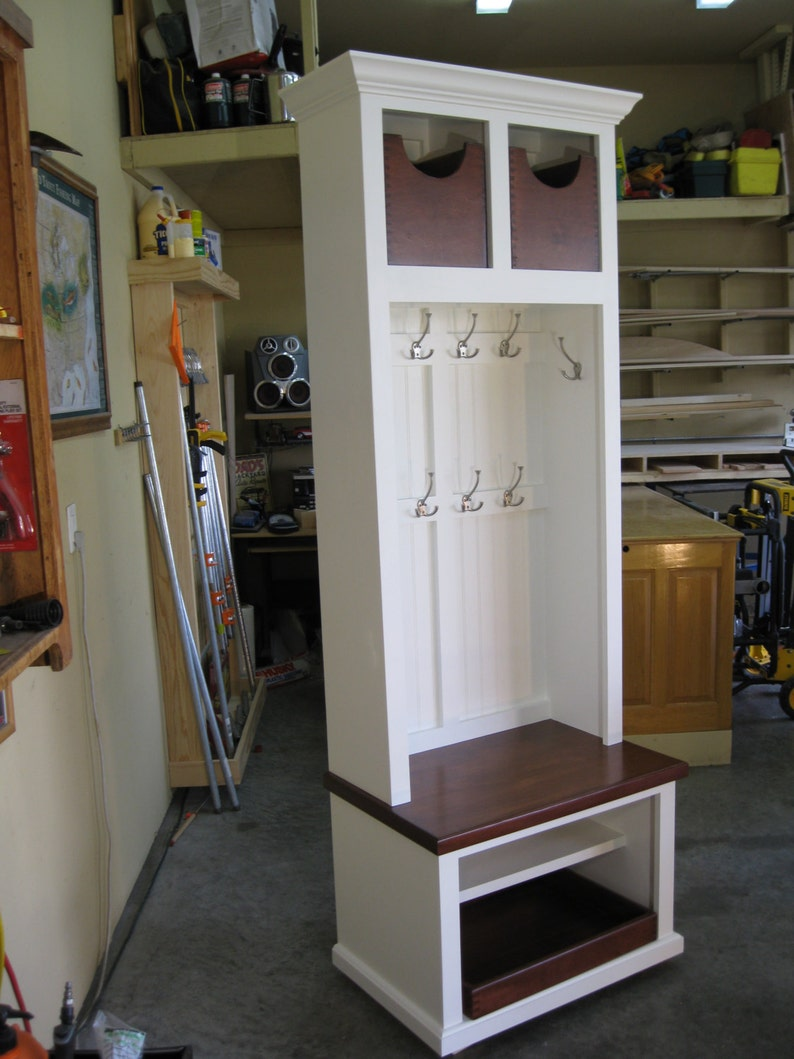 29 Wide Entryway Furniture Mudroom Cabinet Hall Tree Etsy