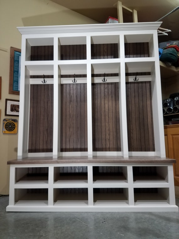 Fabulous Mudroom Lockers Entry Furniture Hall Tree Storage Bench Cubbies 67Wide Coat Hat Rack Dailytribune Chair Design For Home Dailytribuneorg