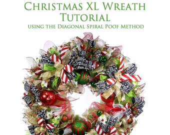 Tutorial: Christmas Wreath - Diagonal Spiral Poof Method