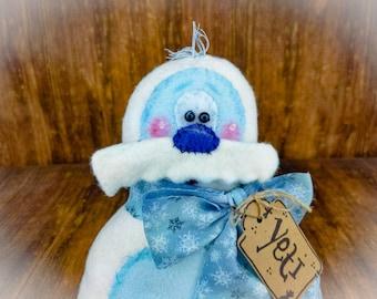 Yeti - Abominable Snowman - Yeti Decor - Decorative Doll - Collectible - Table Top Decor - Tiered Tray - Wreath Decor - Centerpiece Decor