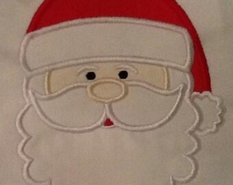 Santa  Claus Applique T-shirt Design (Long sleeve)