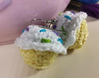 Crochet Cupcake Earrings