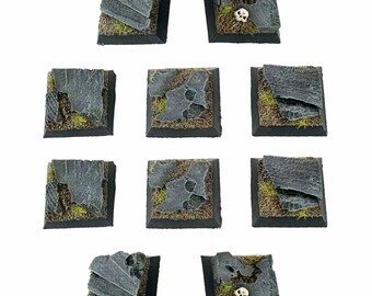 Warhammer 40k NOT Resin 32mm MDF Scenic Bases PRE PRINTED Pack of 10