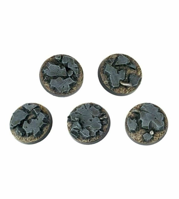 20 25mm Resin Scenic Bases Round Forest Warhammer 40k