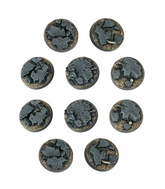 Round Forest Warhammer 40k 20 25mm Resin Scenic Bases