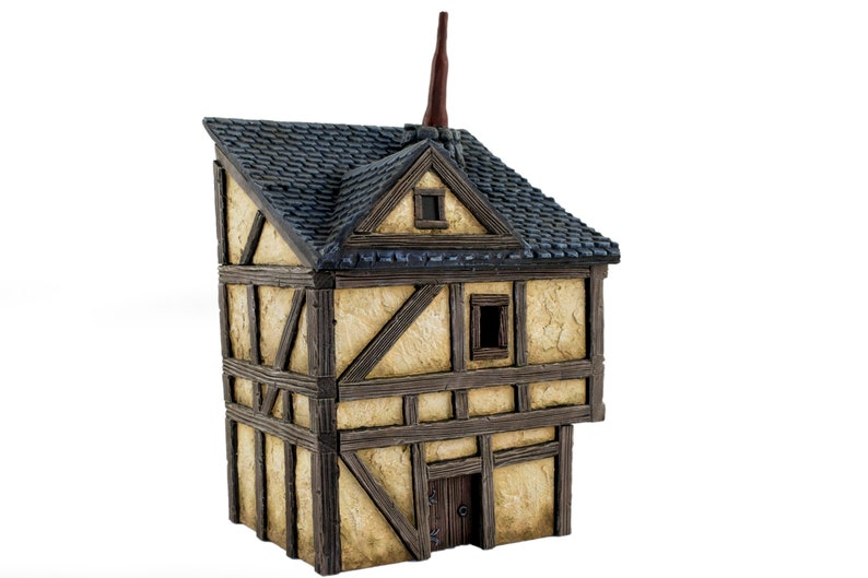 WWG Fantasy Village Town House – 28mm Medieval Wargaming Terrain Model  Scenery