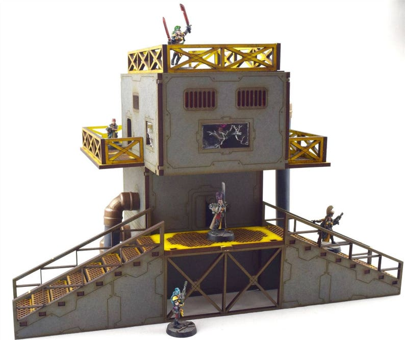 WWS Battlefield Desert Defensive Position Bunker Kit Warhammer 40k