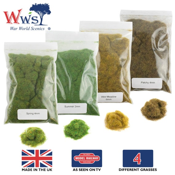 Model Railway Wargame Scenery WWS Flower Dressing Kit for Static Grass Tufts