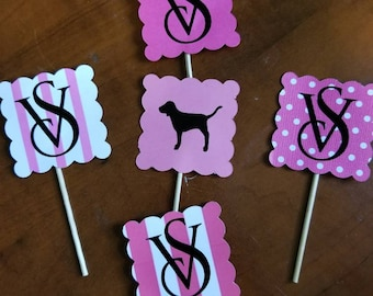 12 pc Custom Decals, Cupcake toppers, or Cupcake Wrappers