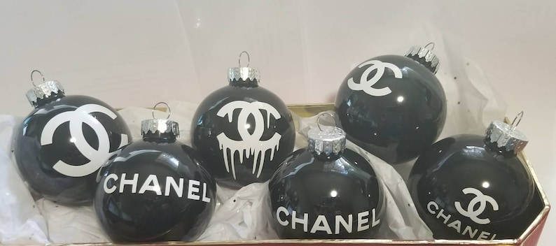 Chanel Christmas Ornaments.Customized Christmas Ornaments