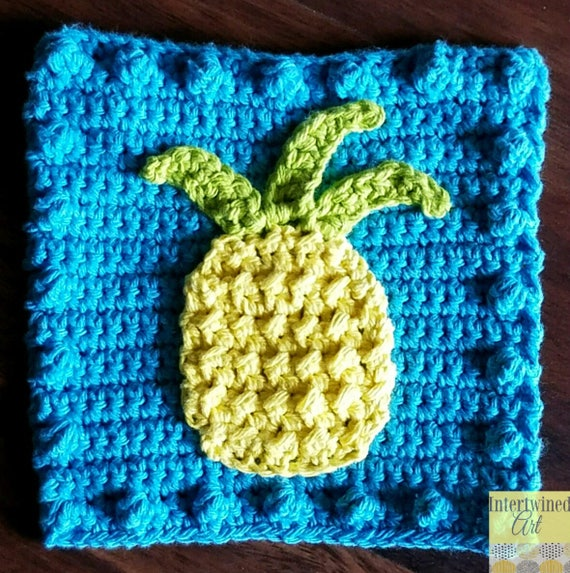 Crochet Pineapple Pattern Pineapple Applique Granny Square Etsy