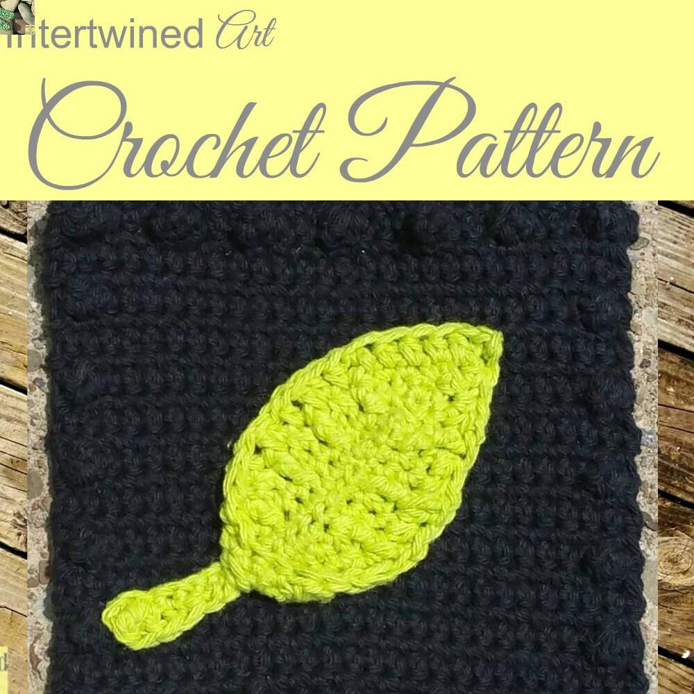 Crochet Leaf Applique Pattern Granny Square Like A Boss Etsy