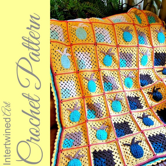 Crochet Ombre Pineapple Blanket Pattern Pineapple Granny Etsy