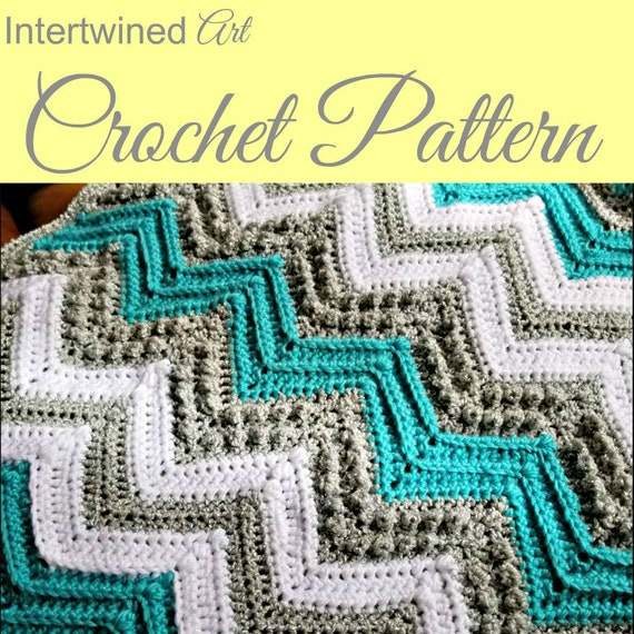 Chevron Baby Blanket Crochet Pattern Texture Blanket Etsy