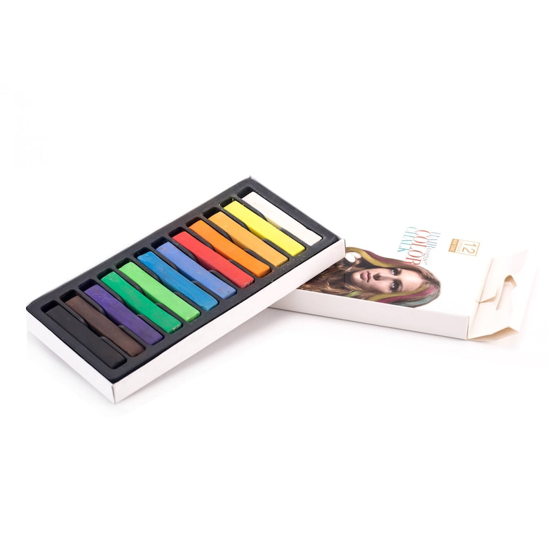 1224 Colored Square Pastels Temporary Hair Color stick Soft Pastel Drawing Pastel Set