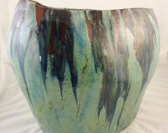 Hand Shaped ceramic vase