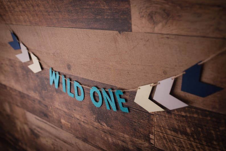 Baby Shower Baby Shower Tribal Party Decor Where the Wild Things Are Wild One Banner {COLOURS CUSTOMIZABLE} Party Decor Birthday