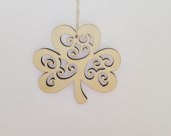 Shamrock, Ornament, Christmas Ornament, Irish, Irish Blessing, Irish Christmas, Green Shamrock, Lucky Shamrock, Shamrock Ornament