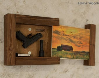 Concealed Gun Storage Art Barn At Teton Gun Storage Hidden Etsy
