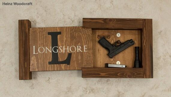 Solid Pine Concealed Gun Storage Gun Storage Hidden Gun Etsy