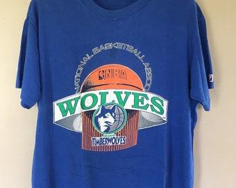 437ba8baf Vintage Minnesota Timberwolves NBA Basketball T Shirt XL Size