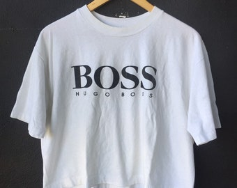 3b9932700 Vintage Hugo Boss Bootleg Crop T Shirt XL Size