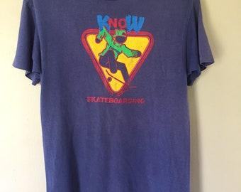 Vintage 90s Thrasher Skateboarding Skateboard T Shirt Medium Size fa02794e2