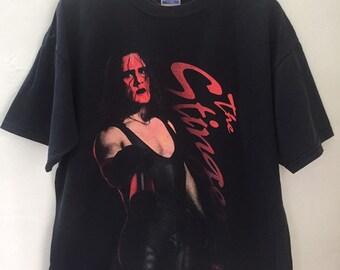 d67449a7 Vintage 90s Sting The Stinger Wcw Nwo Wrestling T Shirt XL Size