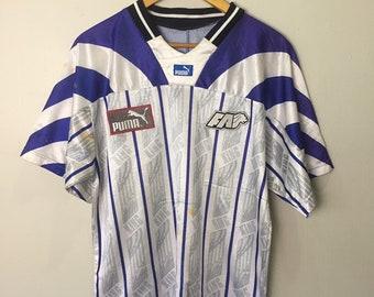 e4ef393bc Vintage 90s Singapore Football Soccer Team Puma Jersey
