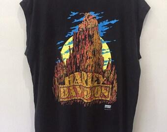 16eb20a94 Vintage Harley Davidson Sleeveless T Shirt XL Size